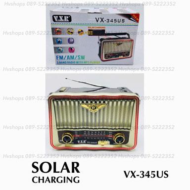 ลำโพงบลูทูธ solar charging vx 345us