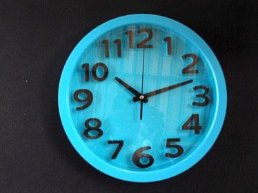 นาฬิกาติดผนัง ยี่ห้อ Good รหัส-183 สีฟ้า