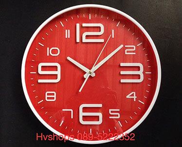 นาฬิกาติดผนังสีแดง Good รหัส 09529