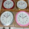 นาฬิกาติดผนัง ตราสมอขอบเงินทองไม้สี รหัส 9811