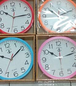 นาฬิกาติดผนัง ตราสมอ สีๆ รหัส 1011