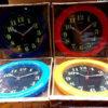 นาฬิกาติดผนัง ยี่ห้อ Lucky รหัส 073 หน้าดำ