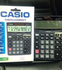 เครื่องคิดเลขยี่ห้อ Casioข องแท้-รุ่น-DJ-120D