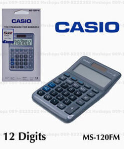 เครื่องคิดเลขอย่างดี-Casio-รุ่น-MS-120FM-ฟังก์ชั่นครบ-แท้-100%